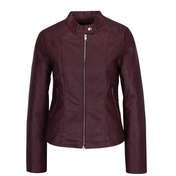Jacheta bordo din piele sintetica VILA Bethella