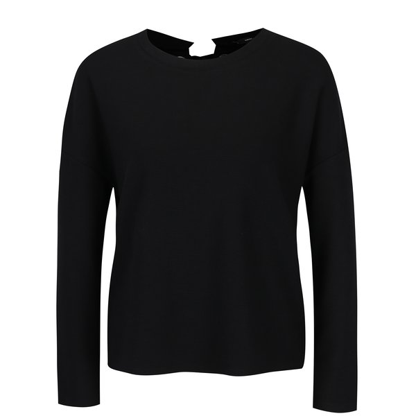 Bluza neagra cu panglica decorativa pe spate - TALLY WEiJL