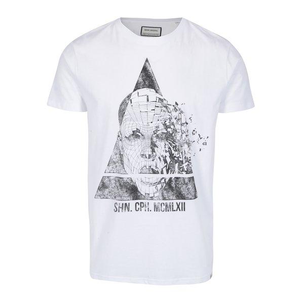 Tricou alb cu print - Shine Original