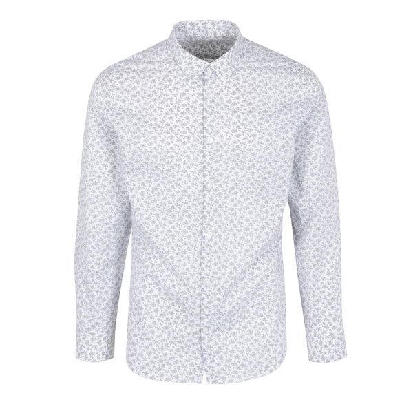 Camasa casual alba din bumbac cu print floral - Selected Homme Doneed