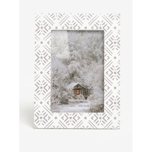Rama foto gri & alb cu print - Kaemingk