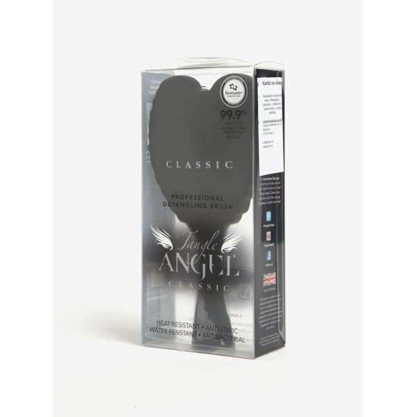 Perie de par neagra in forma de aripi de inger - Tangle Angel Classic
