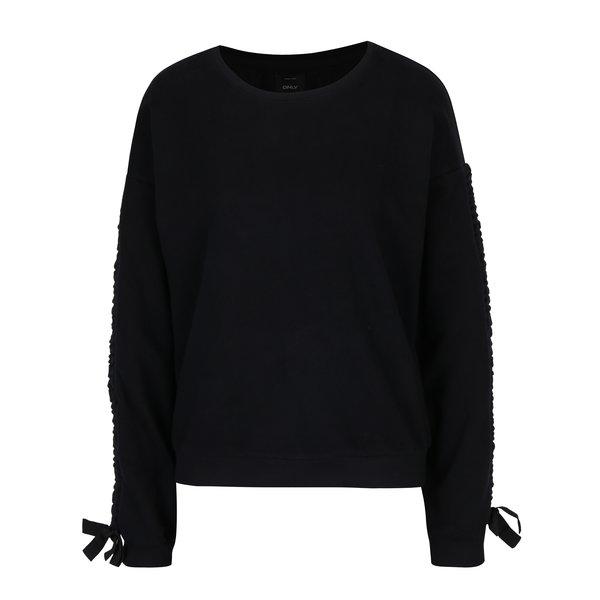 Bluza sport neagra cu panglici - ONLY Winnie
