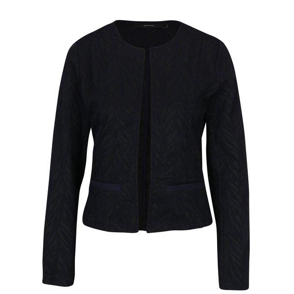 Jacheta negru&albastru cu print frunze VERO MODA Norma