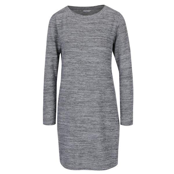 Rochie - pulover gri melanj cu decolteu rotund - Jacqueline de Yong Sorry