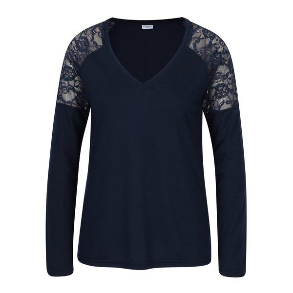 Bluza bleumarin cu decolteu anchior si dantela pe umeri - Jacqueline de Yong Parvola