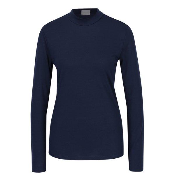 Bluza bleumarin cu guler la baza gatului - Jacqueline de Yong Spirit