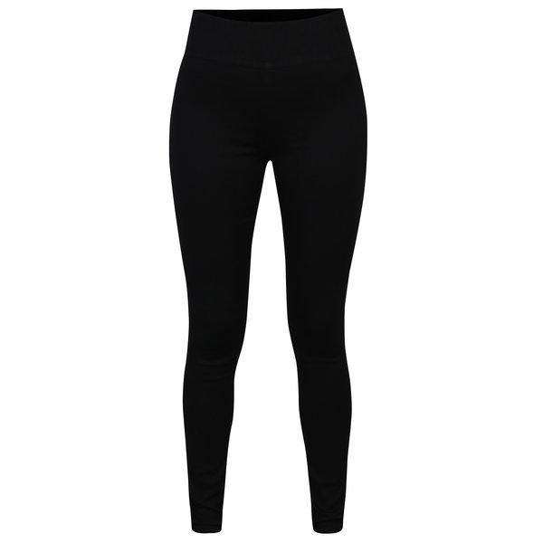 Pantaloni negri cu talie inalta si fermoar la spate - Jacqueline de Yong Tara