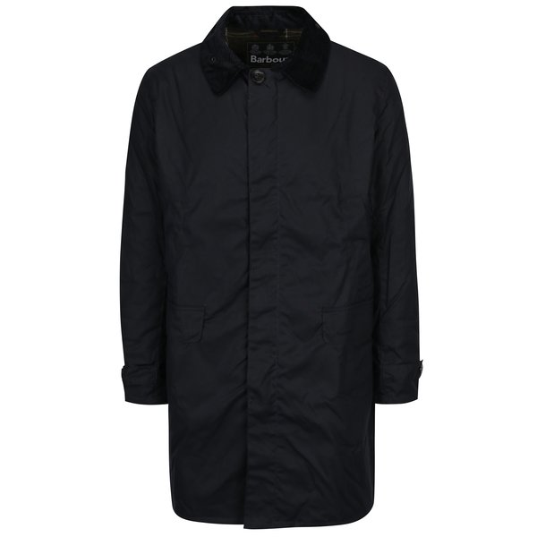 Palton negru impermeabil Barbour Nairn Wax
