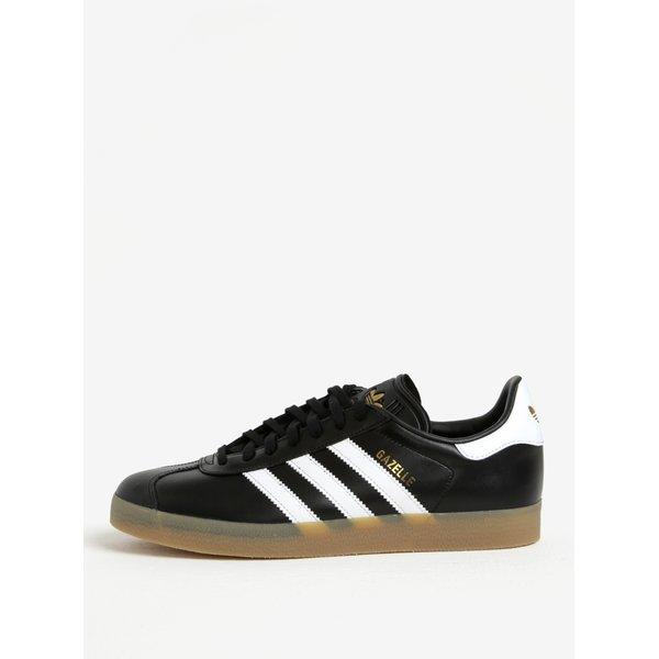 Pantofi sport negri din piele pentru barbati adidas Originals Gazelle