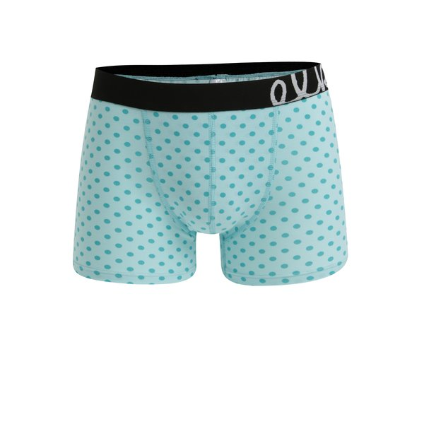 Boxeri verde menta cu buline pentru barbati - El.Ka Underwear