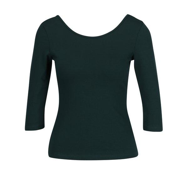 Bluza basic verde inchis cu decolteu rotund ZOOT