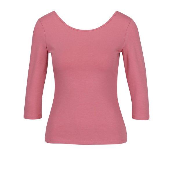 Bluza basic roz cu decolteu rotund ZOOT