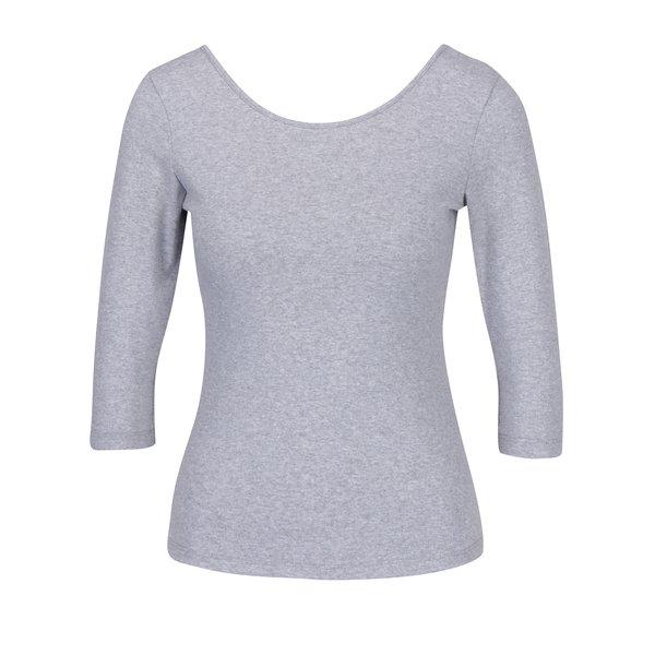 Bluza basic gri cu decolteu rotund ZOOT