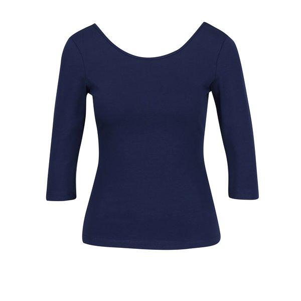 Bluza basic bleumarin cu decolteu rotund ZOOT