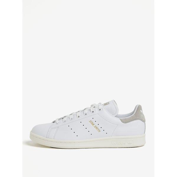 Pantofi sport albi din piele pentru barbati adidas Originals Stan Smith