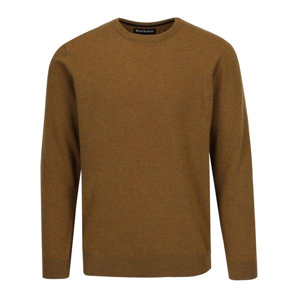 Pulover galben mustar din lana Barbour Essential Lambswool