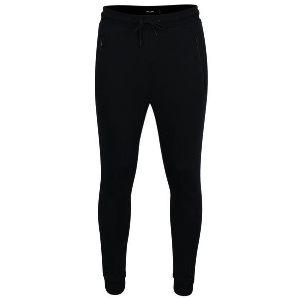 Pantaloni sport negri cu buzunare cu fermoar - ONLY & SONS Travis