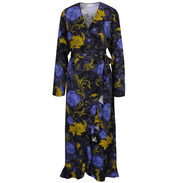 Rochie lunga cu print floral si volane - Selected Femme Sonja