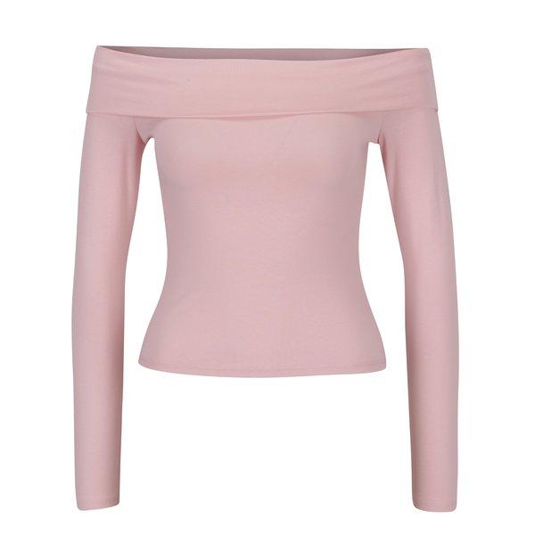 Bluza roz pal cu umeri expusi Miss Selfridge