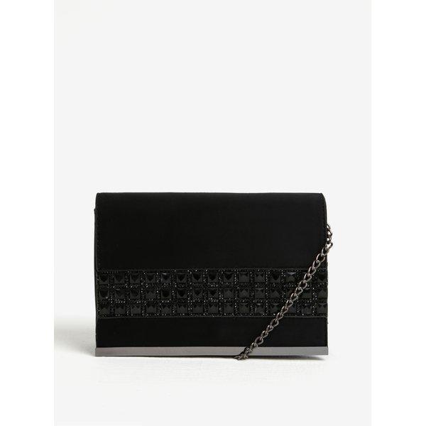 Geanta clutch neagra cu aplicatie decorativa Dorothy Perkins