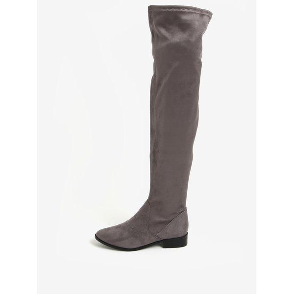 Cizme gri inalte peste genunchi cu fermoar - ALDO Elinna