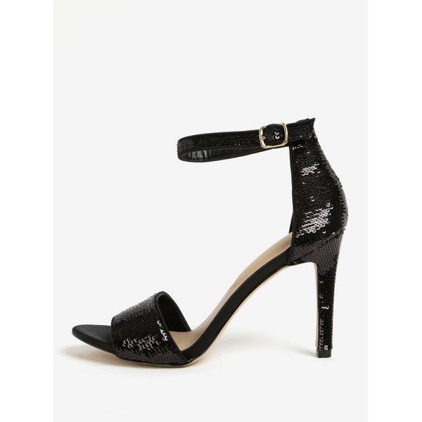 Sandale negre cu paiete si toc cui - ALDO Fiolla