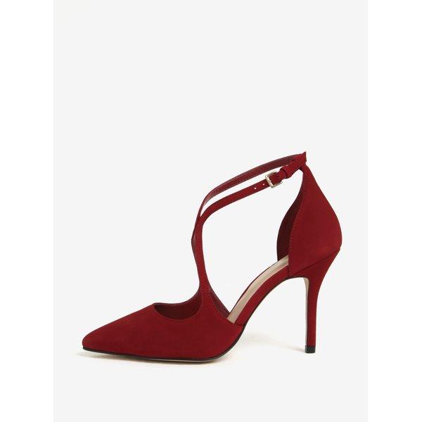 Pantofi rosii din piele intoarsa cu toc cui - ALDO Loverani