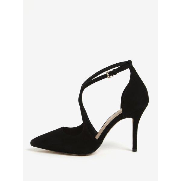 Pantofi negri din piele intoarsa cu toc cui - ALDO Loverani