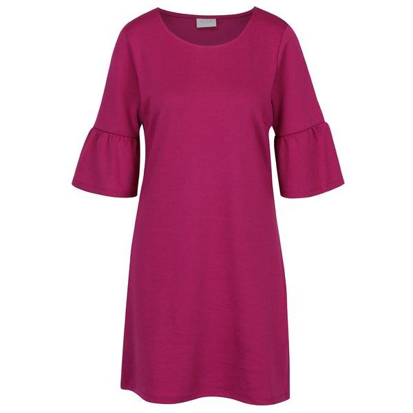 Rochie dreapta roz cu maneci clopot - VILA Tinn
