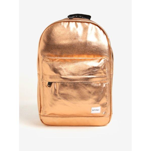 Rucsac auriu cu buzunar pentru notebook Spiral Copper Rave 18 l