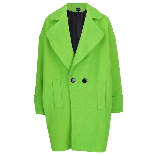 Palton oversized din lana cu buzunare si nasturi Kvinna
