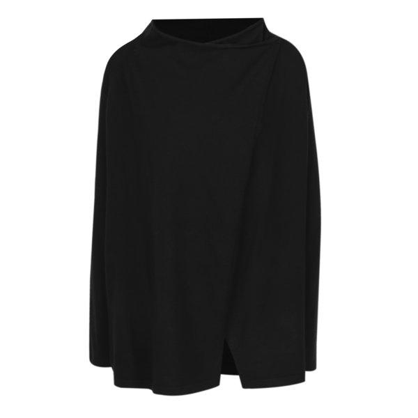 Cardigan lung negru cu inchidere asimetrica VERO MODA Karis