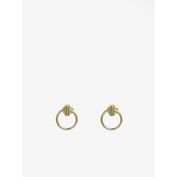 Cercei rotunzi mici aurii - Pieces Ramona