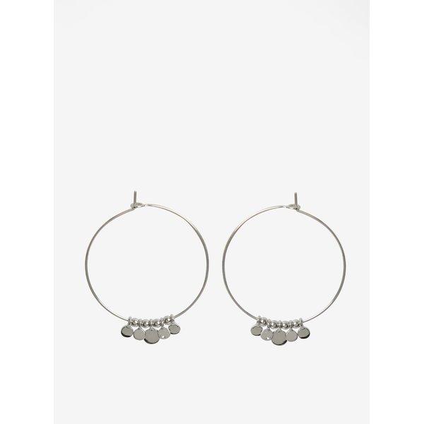 Cercei rotunzi argintii cu pandantive mici - Pieces Valeria