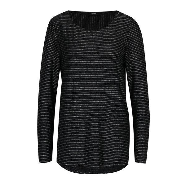 Bluza neagra cu dungi argintii VERO MODA Haley