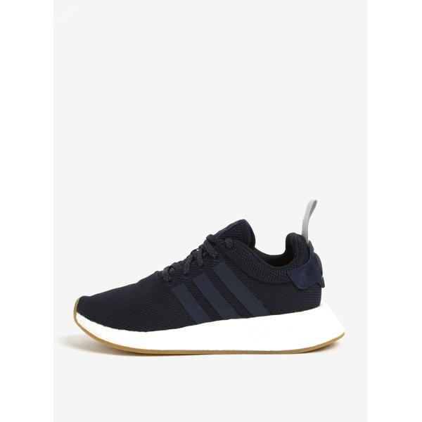 Pantofi sport negri cu detalii din piele pentru femei adidas Originals NMD R2