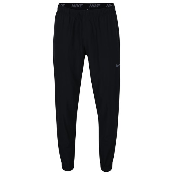 Pantaloni negri sport cu snur Nike