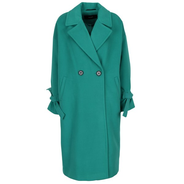 Palton verde cu cordon la maneci VERO MODA Siena