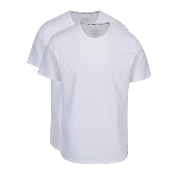 Set de 2 tricouri albe pentru barbati – Calvin Klein