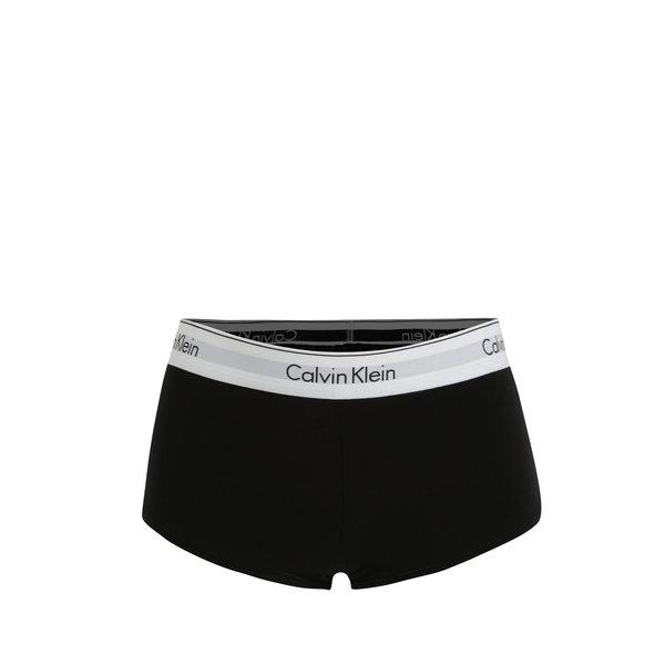 Boxeri negri cu banda elastica si logo in talie pentru femei - Calvin Klein