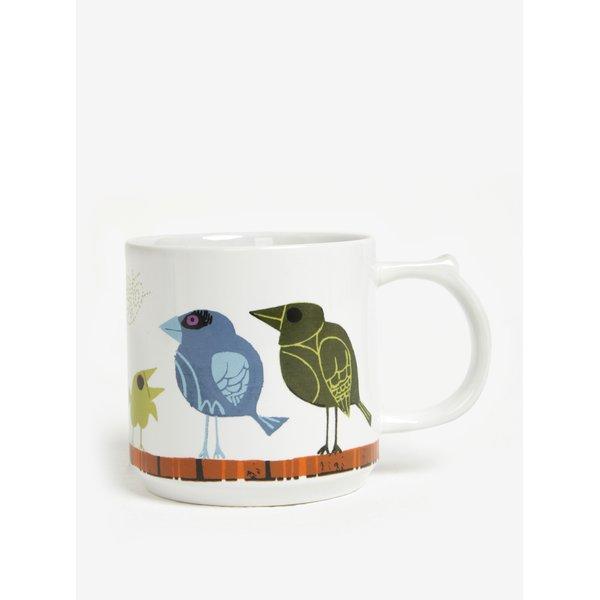 Cana alba cu print pasari - Family of Birds Coffee Mug