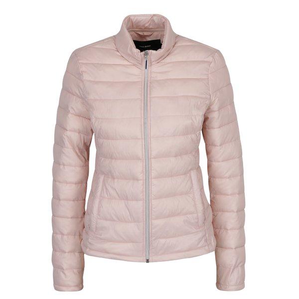 Jacheta matlasata roz deschis cu buzunare - VERO MODA Soraya