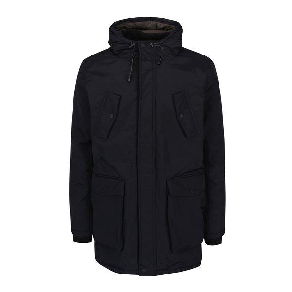 Geaca parka neagra de iarna Burton Menswear London
