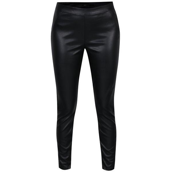 Pantaloni negri din piele sintetica ONLY Dallas