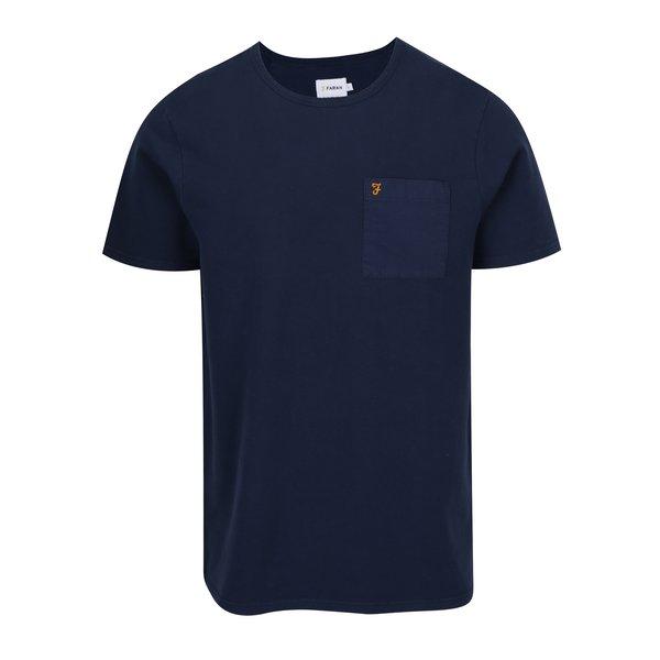 Tricou bleumarin cu buzunar pentru barbati - Farah Fairway