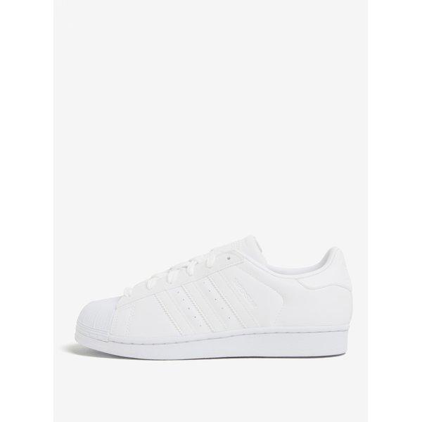 Pantofi sport albi cu siret pentru femei adidas Originals Superstar