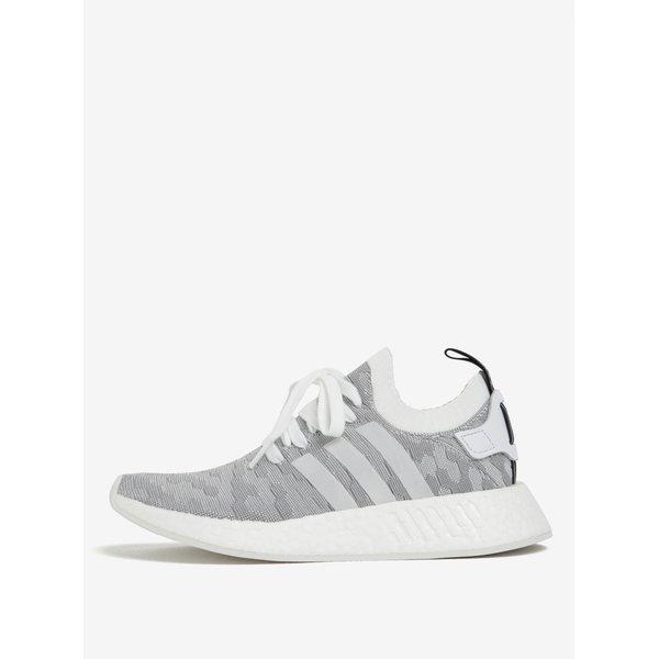 Pantofi sport gri cu alb pentru femei adidas Originals NMD