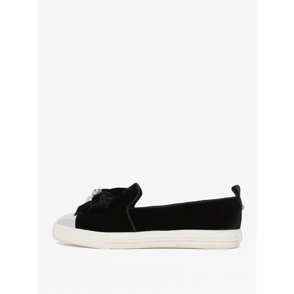 Pantofi loafer negri din catifea cu aplicatii decorative – Miss KG Lottie