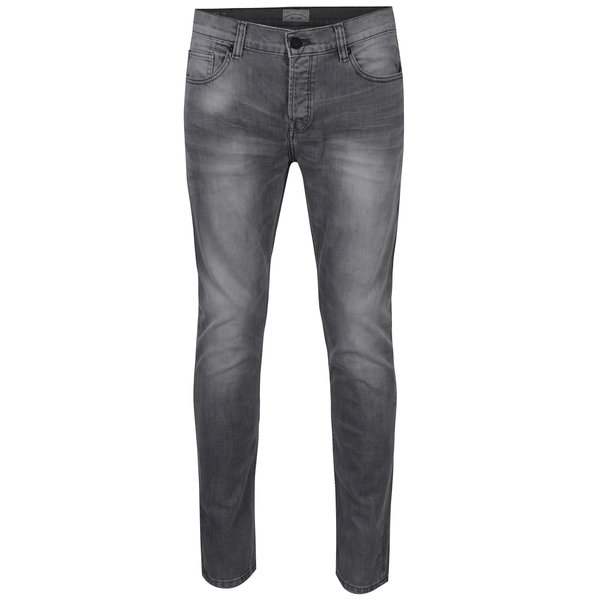 Blugi slim fit gri deschis cu aspect prespalat - ONLY & SONS Loom